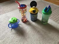 Beaker and bottles
