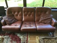 Ercol 3 piece Leather Suite