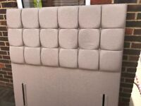 Sueno Double Upholstered Headboard - Mink (RRP £299)