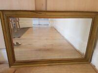 Big wooden gold color Mirror
