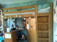 strong solid high cabin bed