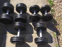 Metal Fixed dumbbells set