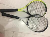 Tennis racquets / rackets x2 Dunlop and Slazenger