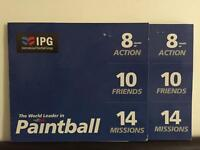 PAINTBALL TICKETS FOR SALE