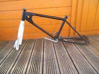 80's old school bmx bike frame and forks