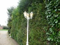 Outside 3 way Garden Lamppost Used