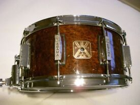 "Asama Percussion wood-ply snare drum 14 x 6 1/2"" - '80s - Tama Kongbeat style"