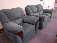 ELECTRIC RECLINER CHAIR + TWO SEAT SOFA , matching suite. CAN DELIVER, armchair adjustable
