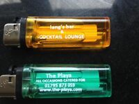 100 Disposable Lighters With Your Message Printed On Them £35.00 Free P&P