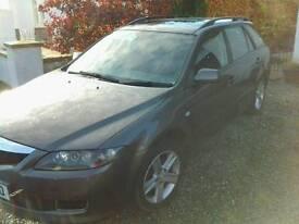 Mazda 6 estate, (06), 2l tdi, towbar, 92k, turbo failure