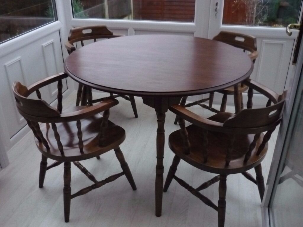Vintage capitans chairs and table walmnut in Ribbleton  : 86 from www.gumtree.com size 1024 x 768 jpeg 82kB