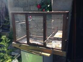 Cage with tray