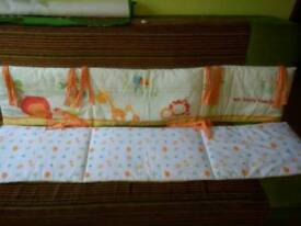 Cot bed bumpers