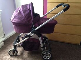 Icandy cherry travel system in purple