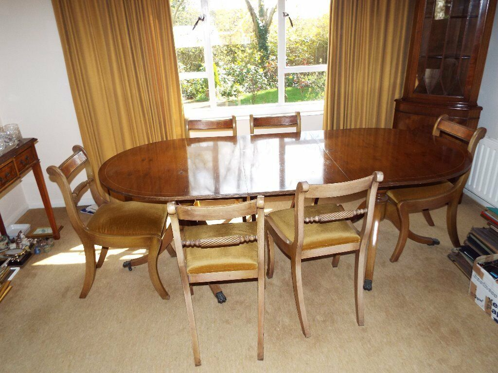Yew Reproduction Dining Table And Buy Sale And Trade Ads