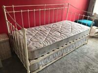 Cream Double Day Bed with x 2 mattresses