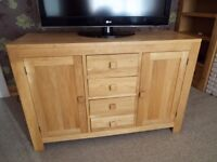 Solid Oak Sideboard . Excellent condition.