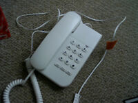 Spirit 100 white corded telephone