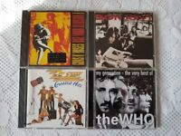 4 CD's- ZZ TOP,THE WHO,GUNS & ROSES BON JOVI