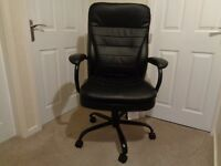 Goliath Extra Large Black Leather Executive Office Chair