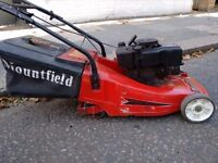 mountfield self propelled lawnmower with a roller