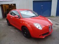 Red Alfa Romeo MITO Tourismo,3 dr hatchback,FSH,after market black alloys,very sporty car,only 36k