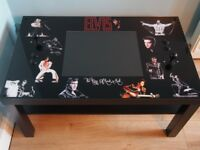 COCKTAIL STYLE ELVIS ARCADE COFFEE TABLE WITH BUILT IN SCREEN AND GAMES