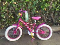 Pink children's bicycle