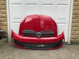 Genuine VW Golf MK6 GTD GTI Front Bumper Bonnet Grills 2009-2012