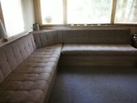 CORNER SOFA FOR STATIC CARAVAN WITH PULL OUT DOUBLE BED