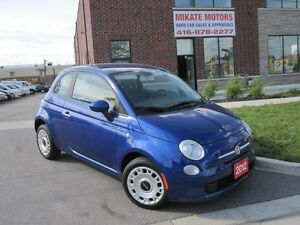 2012 Fiat 500 Pop, 80,000 KM Clean Body, Sold Cert., Only $6999!