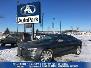 2014 Audi A5 S-Line 6 Speed | AWD | Navigation | Heated Leather