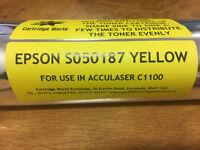 BN Cartridge World Epson Acculaser C1100 Yellow Toner Ink Cartridge