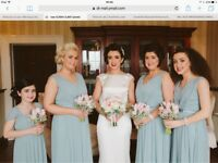 4 Dessy bridesmaid dresses, size 6, 2x 16 and Dessy Girl size 10 JB, colour Icelandic, batch set