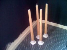 """4 x IKEA """"HILVER"""" LEGS FOR A TABLE"""