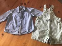 Boys Timberland shirt and dungarees age 18months-2 years