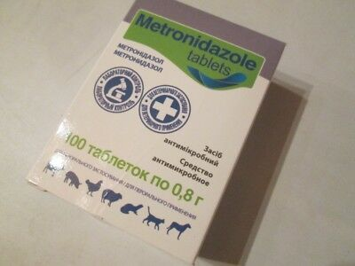 Metronidazole 100 Tablets Flagyl Antiprotozoal Antibiotic Dog Cat