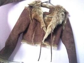 Size 10 suede coat