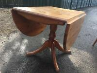 Pine drop leaf extending dining table shabby chic project