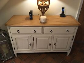 Large 'Etienne' Sideboard with Oak Top and Shabby Chic Paintwork FOR SALE