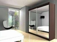 🔵💖🔴more at less price🔵💖🔴BERLIN 2&3 SLIDING DOORS WARDROBE IN 5 SIZES & IN MULTI COLORS