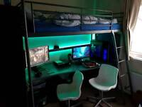 Cool high sleeper bed and desk