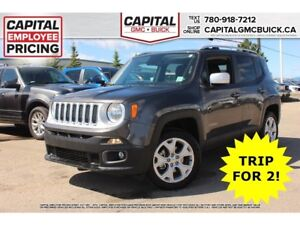 2017 Jeep Renegade LIMITED 4WD LEATHER SUNROOF 18 WHEELS NAV 15K