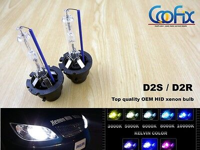 NEW 2x HID Xenon D2S D2R D2C for Osram Philips Headlight High And Low Beam Bulbs