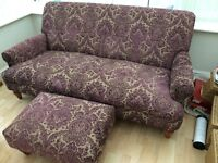 Arighi Bianchi sofa and footstool. Excellent condition.