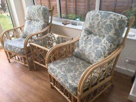 Bamboo conservatory furniture set