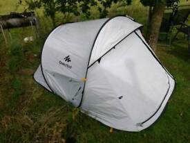 Fresh and black two man pop up tent