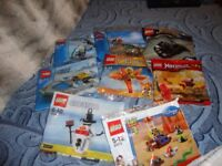 8 packs of lego 5-12 yrs new unopened