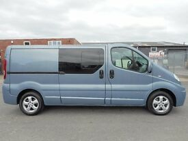 FINANCE ME !! NO VAT !! Renault trafic sport factory six seat crew van with only 96k from new!!
