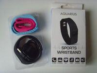 AQUARIUS Black Sports Wristband